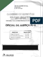 Prova Oficial de Justica Tjrs - Faurgs - 23-01-2011