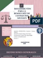 RESOLUCIÓN DE CONFLICTOS SOCIALES