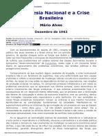 A Burguesia Nacional e a Crise Brasileira