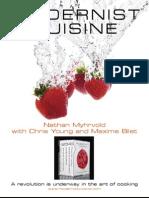 Introducing Modernist Cuisine (brochure)