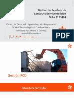 Gestión de RECIDUOS DE CONSTRUCCION Y DEMOLICION