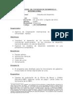 MAESTRIAS EN ESTUDIOS DE DESARROLLO INTERNACIONAL   05-2011