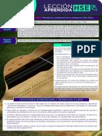 Lecciones HSE - Evento de alto potencial - Perdida de contención en el oleoducto Tello-Dina