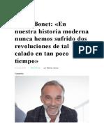 Ángel Bonet comes the sunn