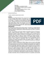 Fallo de Hábeas Corpus en favor de  Miguel Arévalo