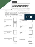 DECLARACION JURADA DE LIBRE DISPONIBILIDAD DE TERRENO
