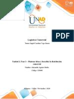 Unidad 2 - Fase 3 - Plantear ideas y describir la distribución comercial