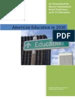American Education in 2030 edited by Chester E. Finn Jr.