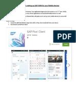 SAP Fiori Mobile Setup (Android & iOS)