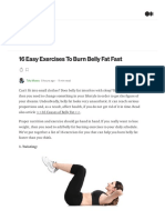 16 Easy Exercises to Burn Belly Fat Fast