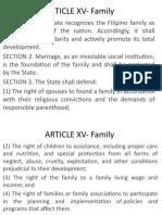 ARTICLE XV-XVI-XVII-XVIII