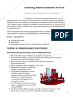 Testing and Commissioning Method Statement For Fire Fighting Pumps