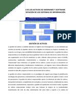 Administración de Los Activos de Hardware y Software Para La Implementación de Los Sistemas de Información
