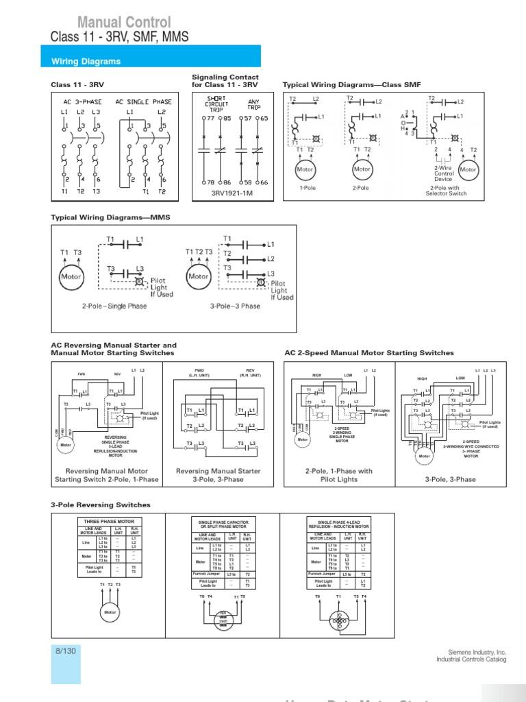 typical wiring diagrams siemens rh scribd com siemens 3 phase motor wiring diagram siemens iec motor wiring diagram