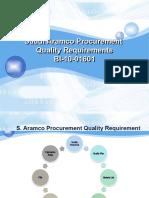 Saudi Aramco Procurement Quality Requirements