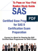 SAS Certified Base Programmer for SAS 9 Certification Exam Preparation June 2009