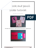 Notebook and Pencil Folder Tutorial