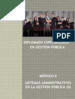 Diplomado en Gestión Pública - Sexto Módulo
