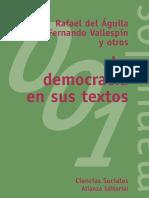 La Democracia en Sus Textos by Rafael Del Águila