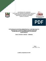 Estrategias de gestión administrativa y contable bajo el enfoque del cuadro de mando integral