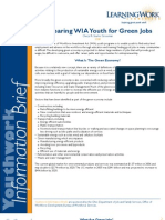 Preparing WIA Youth for Green Jobs