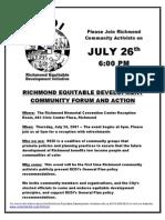 RICHMOND EQUITABLE DEVELOPMENT COMMUNITY