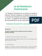 Tipos de Residencia Dominicanas