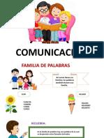 COMUNICACION FAMILIA DE PALABRAS