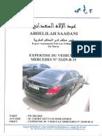 Rapport D'expertise Véhicule Mercedes-Benz Classe C 220
