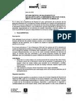 Plan de ayuda Bogotá a Antioquia