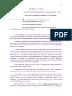 Interpelação da UCID ABERTURA sobre o sistema de Educação em Cabo Verde