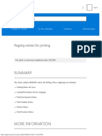 Registry entries for printing