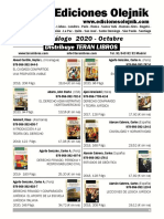 EDICIONES OLEJNIK  CATALOGO OCTUBRE 2020