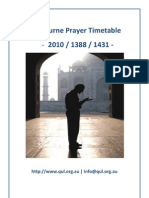 Melbourne Prayer Timetable v2