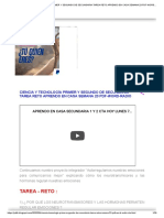 CIENCIA Y TECNOLOGÍA PRIMER Y SEGUNDO DE SECUNDARIA TAREA RETO APRENDO EN CASA SEMANA 23 PDF-WORD-RADIO