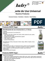 Productos BAFRY D50-500 Desinfectante de Uso Universal.