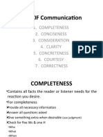 7 Cs 0F Communication