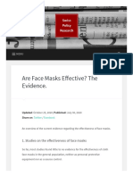 FACE MASKS - Face Masks Evidence - Swiss Policy Research (SPR)