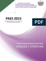 JUSTIFICACIONES PAES 2015 LENGUAJE Y LITERATURA(1) - copia PARA EL ESTUDIANTE.doc