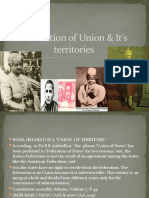 Formation of Union & It's territories