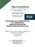 Programa gerontopsicomotricidad
