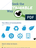 Sustainability Week Kickoff