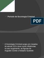 Período de Sociologia Criminal