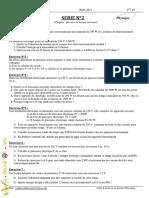 Série d'exercices de  N°2 (Avec correction) - Physique - 2ème TI (2010-2011) Mr abdessatar