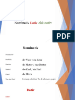 Nominativ Dativ Akkusativ