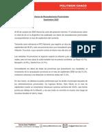 Informe PolitikonChaco Recaudaciones Provinciales a Sep20