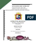 MONOGRAFIA - LITERATURA REGIONAL