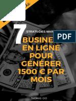 7 Business en ligne pour gagner 1500 mois
