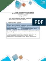 Guía y rúbrica de actividades - Unidad 2 - Tarea 3 - Autocuidado y barreras de protección (2)