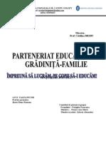 parteneriat gradinita familie 2020-2021